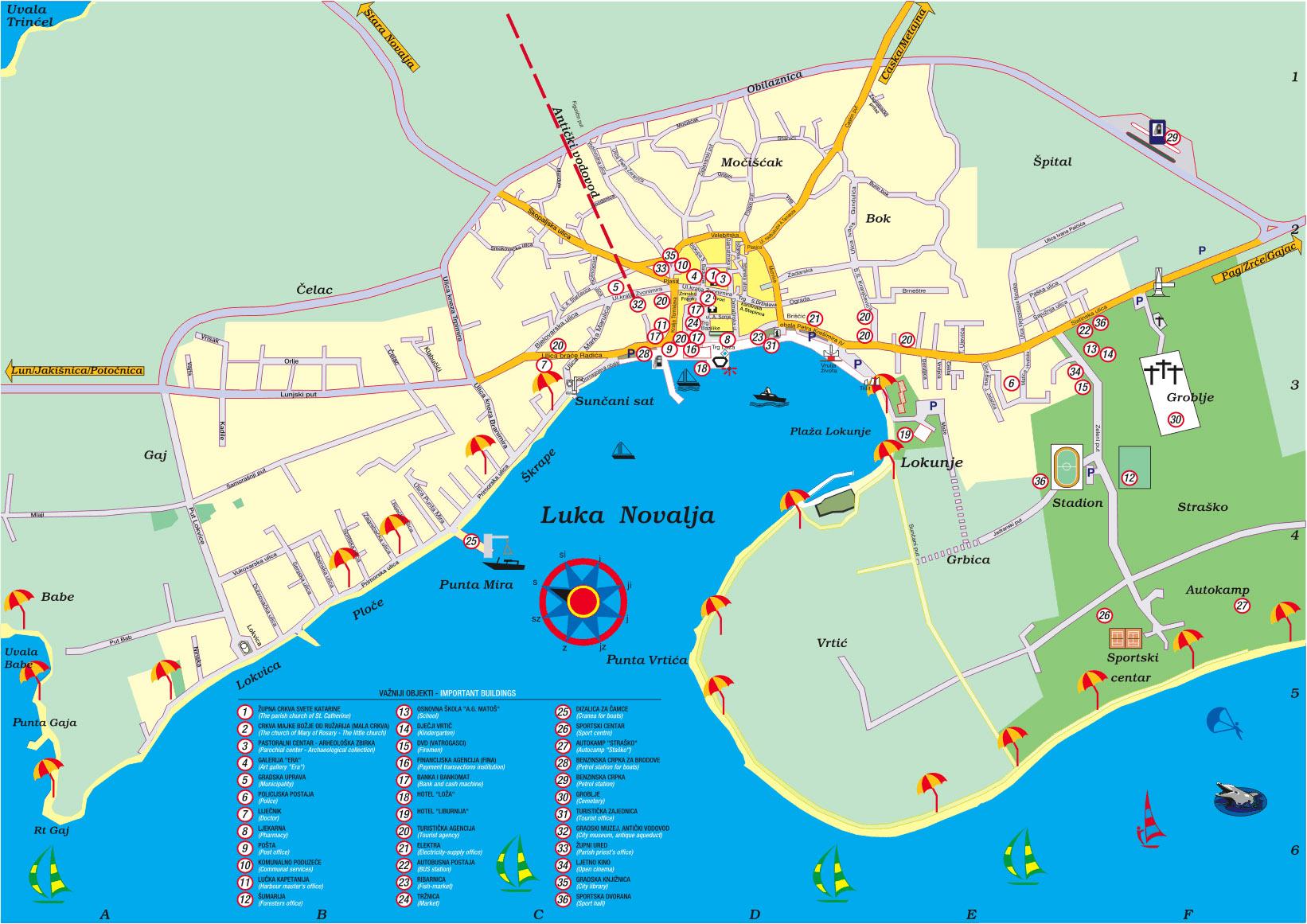 Isola di Pag - Mappa localizzazione