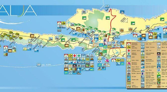 Cartina Isola di Pag