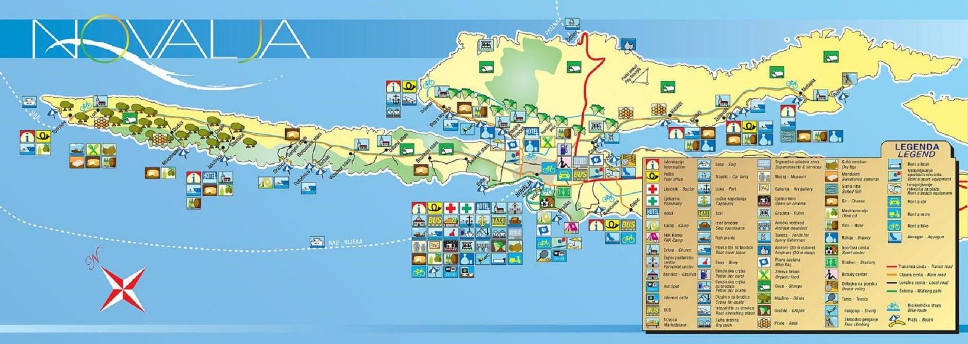 Cartina Spiagge Veneto.Isola Di Pag Mappa Localizzazione